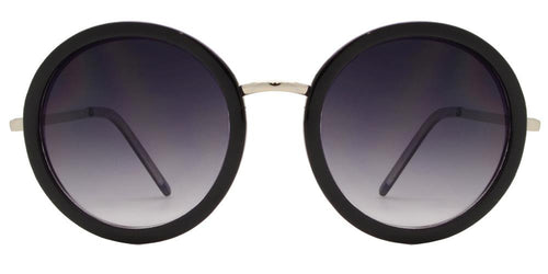 Wholesale - 7696 - Round Plastic Sunglasses with Metal Temple - Dynasol Eyewear
