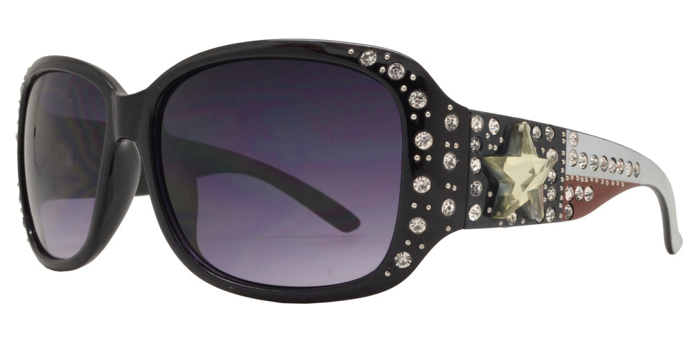 Wholesale - 7815 BX - Womens Fashion Sunglasses with Rhinestones and Texas Star Concho - Dynasol Eyewear