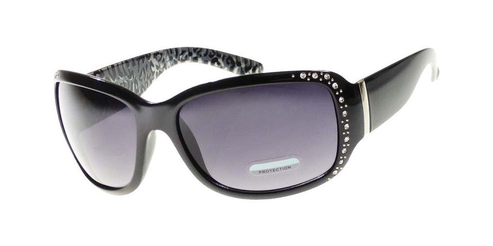 Dynasol Eyewear - Wholesale Sunglasses - 7862 BX - Women's Rectangular Fashion Sunglasses with Rhinestones - sunglasses