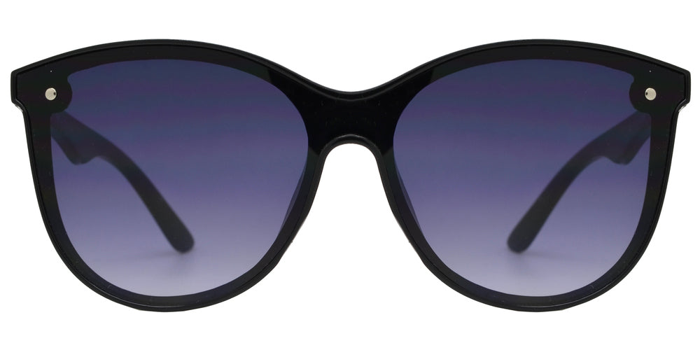 7982 - Plastic Sunglasses with One Piece Flat Lens