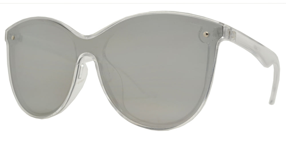 Wholesale - 7982 - Plastic Sunglasses with One Piece Flat Lens - Dynasol Eyewear