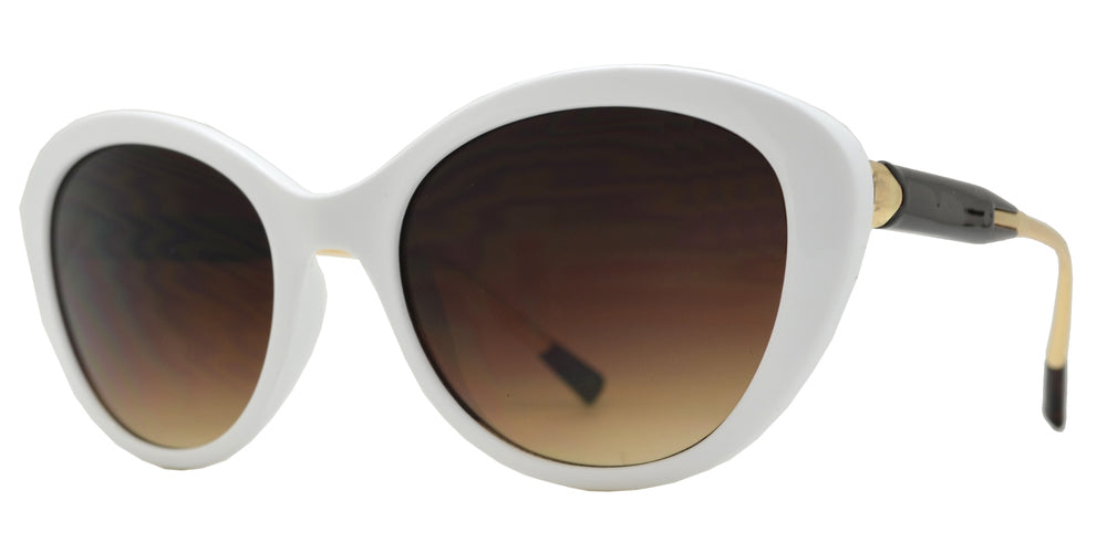 8128 - Clout Goggles Cat Eye Plastic Sunglasses