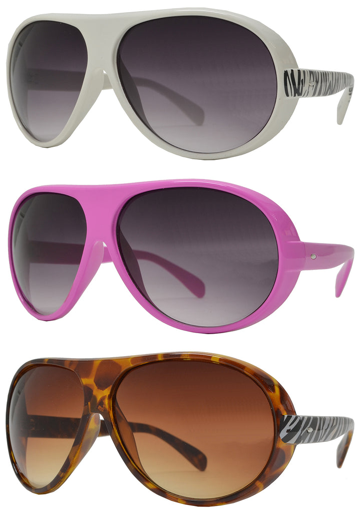 Dynasol Eyewear - Wholesale Sunglasses - 8325 - Women's Oval Fashion Plastic Sunglasses - sunglasses