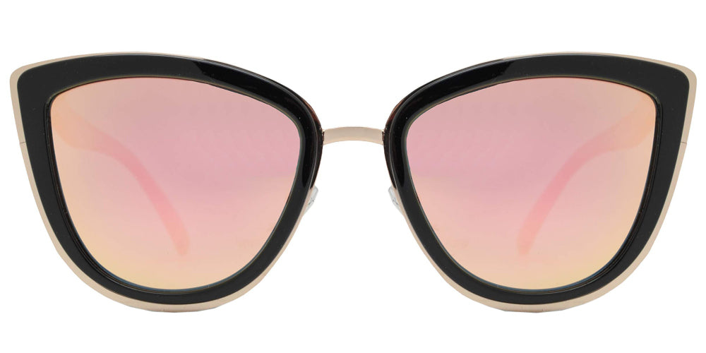 PL 8523 Pink RVC - Polarized Cat Eye Sunglasses with Pink Mirror Lens