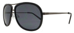 Wholesale - 8528 - Retro Oval Shaped Plastic Sunglasses with Metal Brow Bar - Dynasol Eyewear