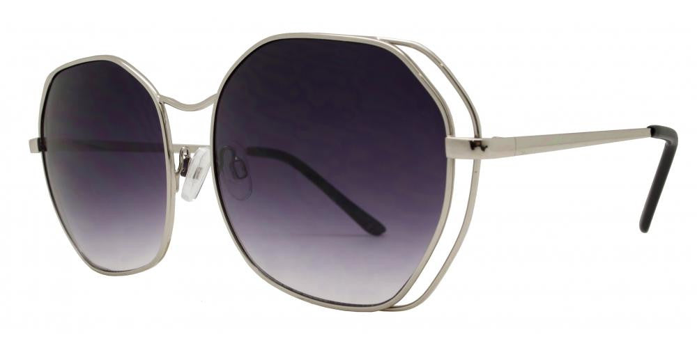 Dynasol Eyewear - Wholesale Sunglasses - 8541 - Modern Geometric Shape Metal Sunglasses - sunglasses