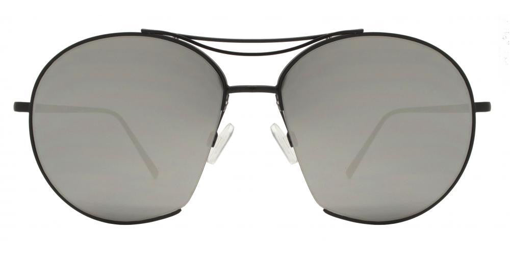 4ea3ff1c9 ... Dynasol Eyewear - Wholesale Sunglasses - 8545 - Round Cut Off Metal  Sunglasses with Brow Bar. Flat Lens ...