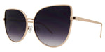 Wholesale - 8562 Color - Women's Modern Metal Cat Eye Sunglasses with Flat Lens - Dynasol Eyewear