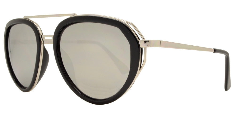 Dynasol Eyewear - Wholesale Sunglasses - 8582 - Retro Metal Aviator Sunglasses with Plastic Border - sunglasses