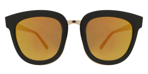 Wholesale - 8584 - Chunky Plastic Sunglasses with Color MIrror Flat Lens - Dynasol Eyewear