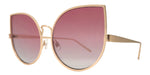 Wholesale - 8589 Color - Women's Metal Cat Eye Sunglasses with Flat Lens - Dynasol Eyewear