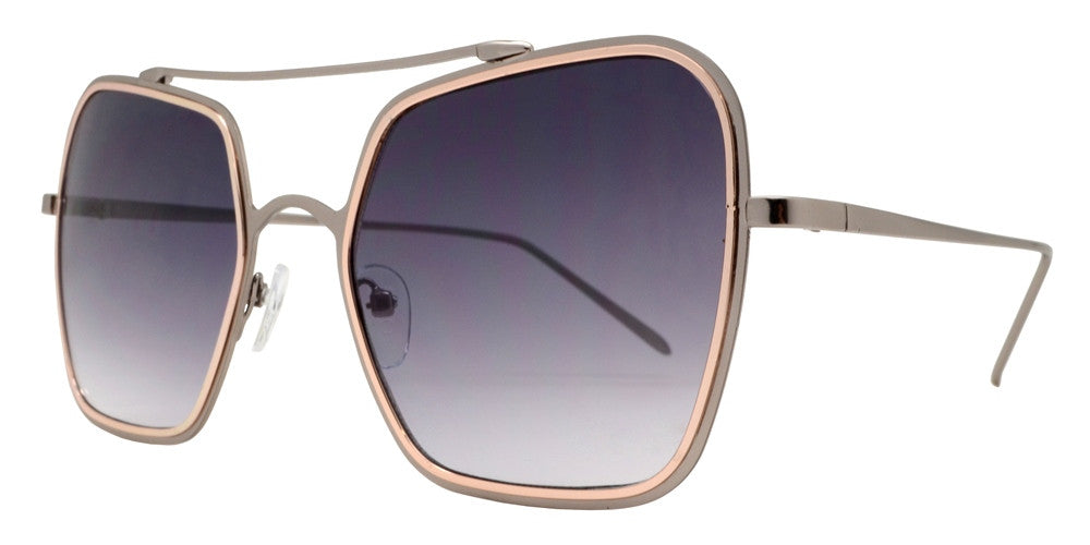 Wholesale - 8621 - Modern Square Metal Sunglasses - Dynasol Eyewear