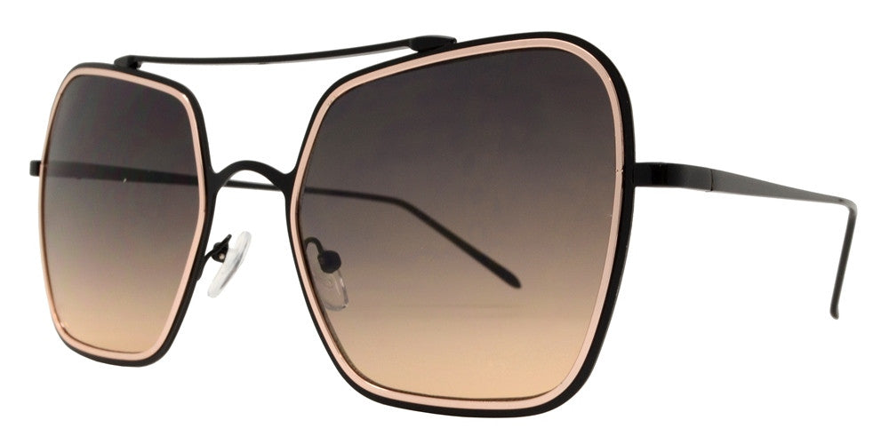 Dynasol Eyewear - Wholesale Sunglasses - 8621 - Modern Square Metal Aviator Sunglasses - sunglasses