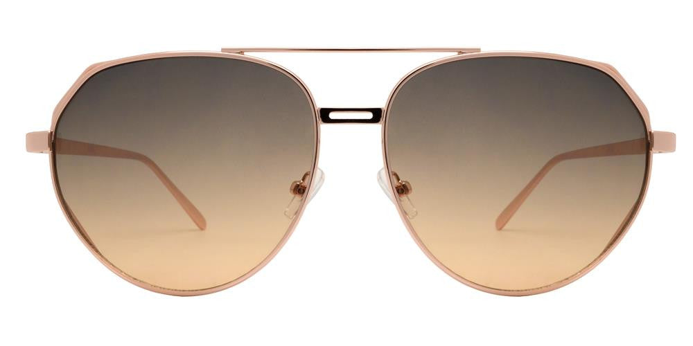 Wholesale - 8623 - Modern Cut Out Oval Shaped Sunglasses with Brow Bar - Dynasol Eyewear