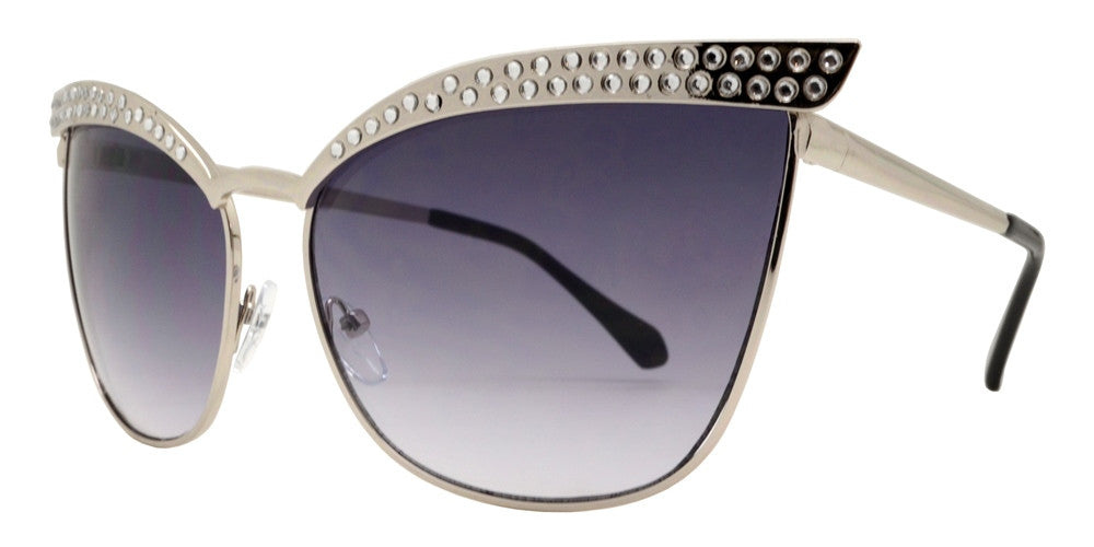 Wholesale - 8624 RH - Women's Retro Cat Eye Sunglasses with Rhinestones - Dynasol Eyewear