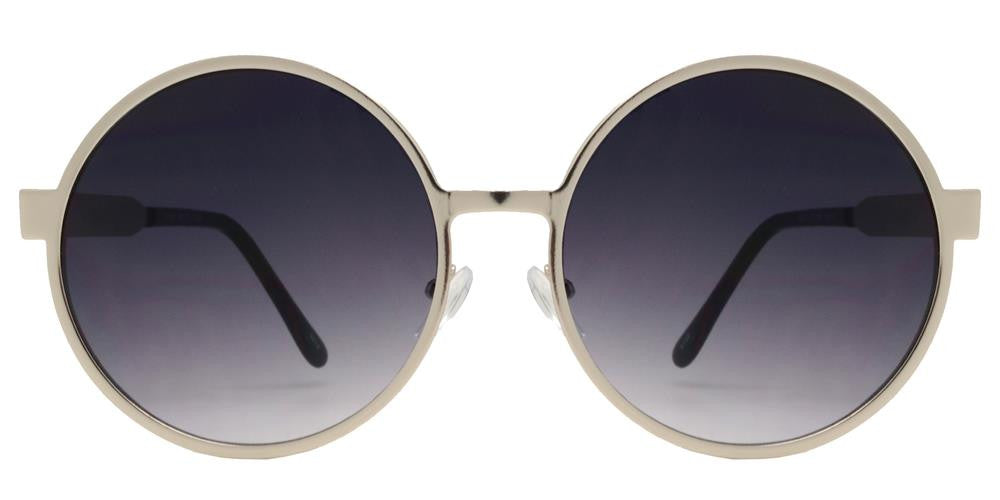 Wholesale - 8674 - Round Metal Sunglasses with Flat Lens - Dynasol Eyewear