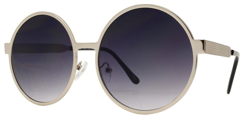 Dynasol Eyewear - Wholesale Sunglasses - 8674 - Round Metal Sunglasses with Flat Lens - sunglasses