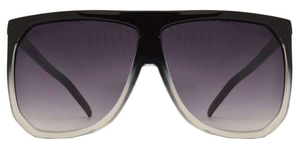 8703 - Large Square Flat Top Plastic Sunglasses