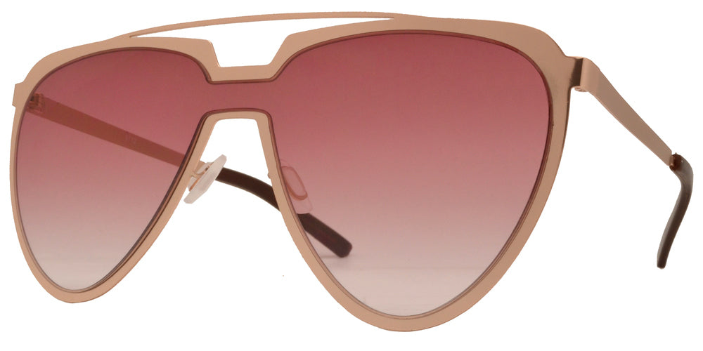 8712 - Metal Cut Out Frame Sunglasses