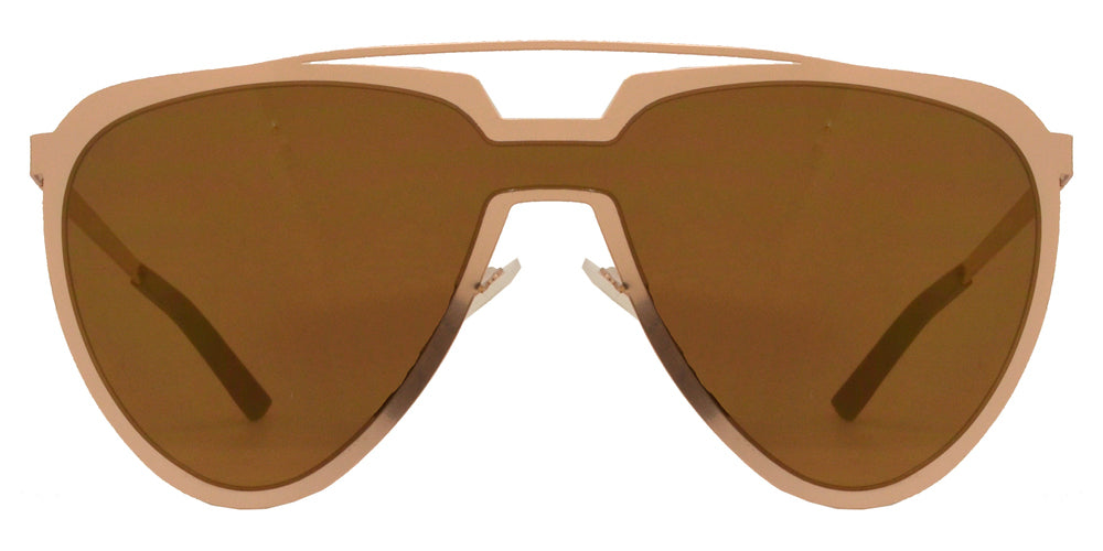 Wholesale - 8713 RVC - Cut Out Frame Sunglasses with One Piece Color Mirror Lens - Dynasol Eyewear