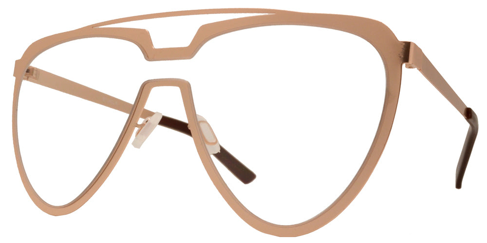 8714 Clear - Cut Out Frame Sunglasses with One Piece Clear Lens