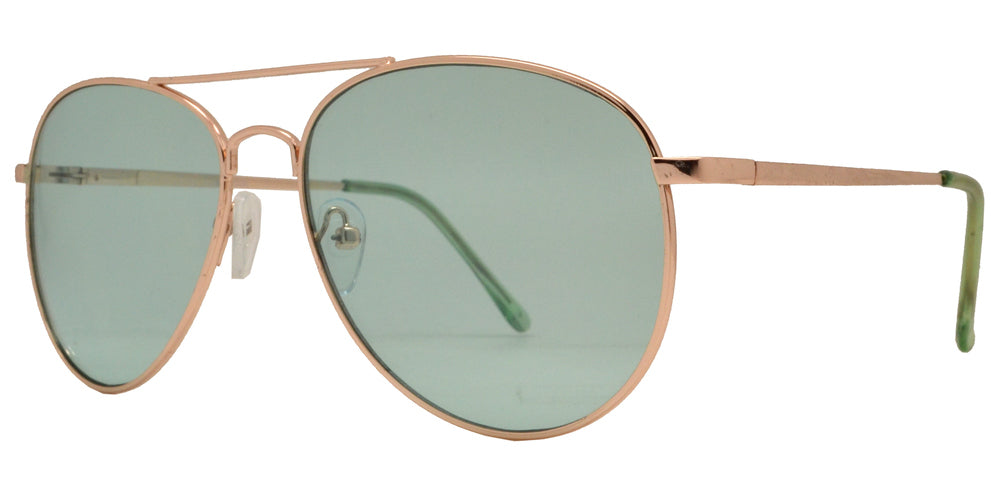 Wholesale - 8734 Color - Metal Oval Shaped Sunglasses with Ocean Lens - Dynasol Eyewear