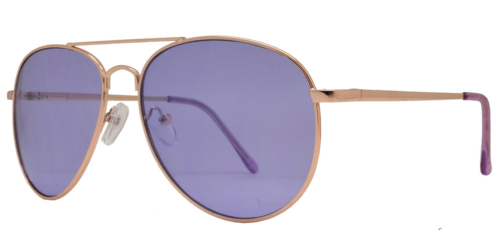 Dynasol Eyewear - Wholesale Sunglasses - 8734 Color - Metal Aviator Sunglasses with Ocean Lens - sunglasses