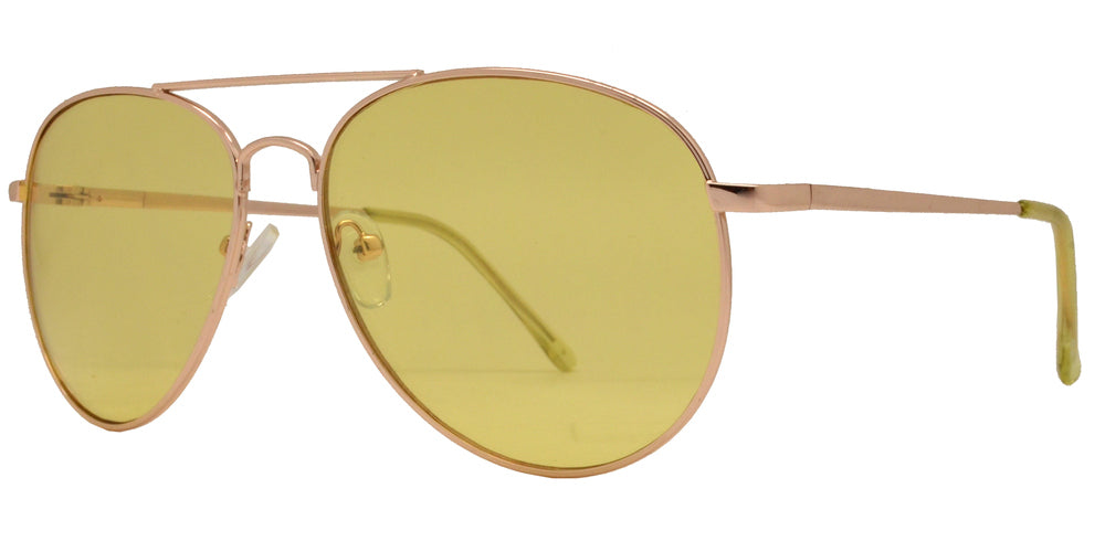 8734 Color - Metal Aviator Sunglasses with Ocean Lens