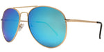 Wholesale - 8734 Spectrum - Classic Metal Oval Shaped Sunglasses with Color Mirror Lens - Dynasol Eyewear