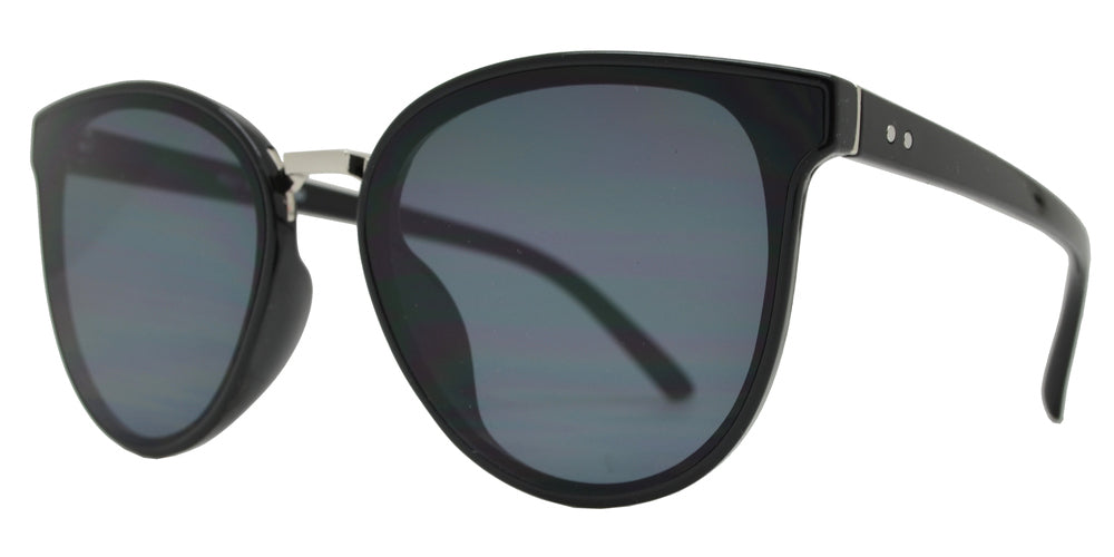 8821 - Horn Rimmed Plastic Cat Eye Sunglasses