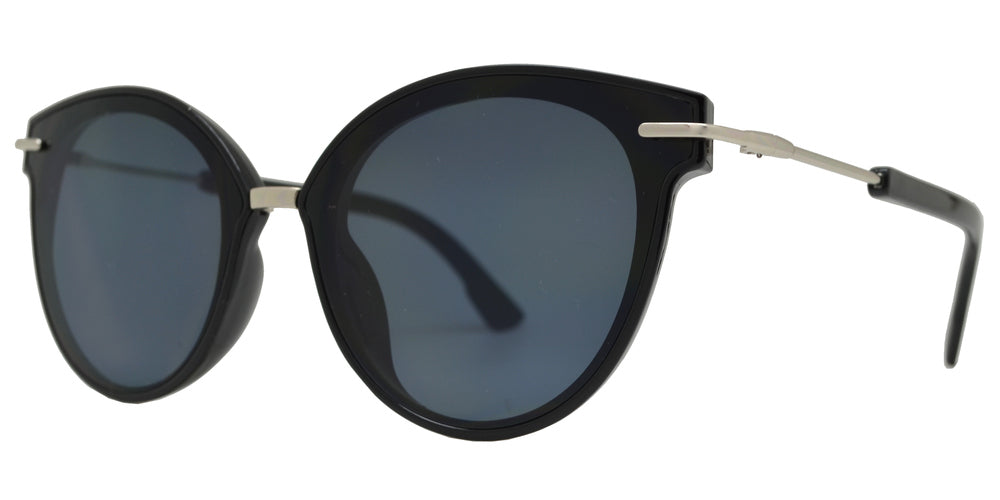 8824 - Plastic Cat Eye Sunglasses with Metal Bridge
