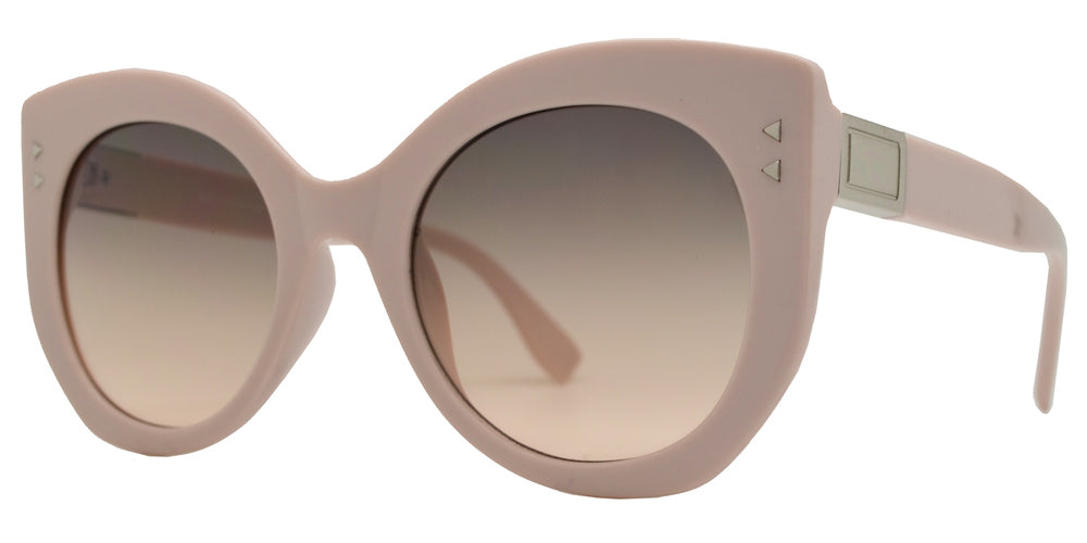 8827 - Thick Plastic Cat Eye Sunglasses