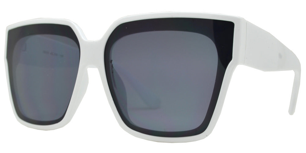 8835 - Fashion Square Sunglasses with Flat Lens