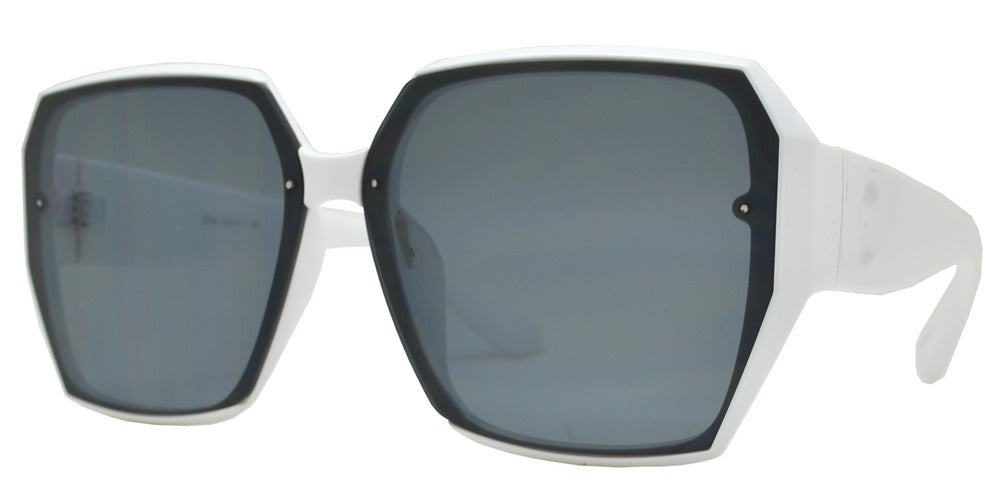 8836 - Square Plastic Sunglasses with Flat Lens