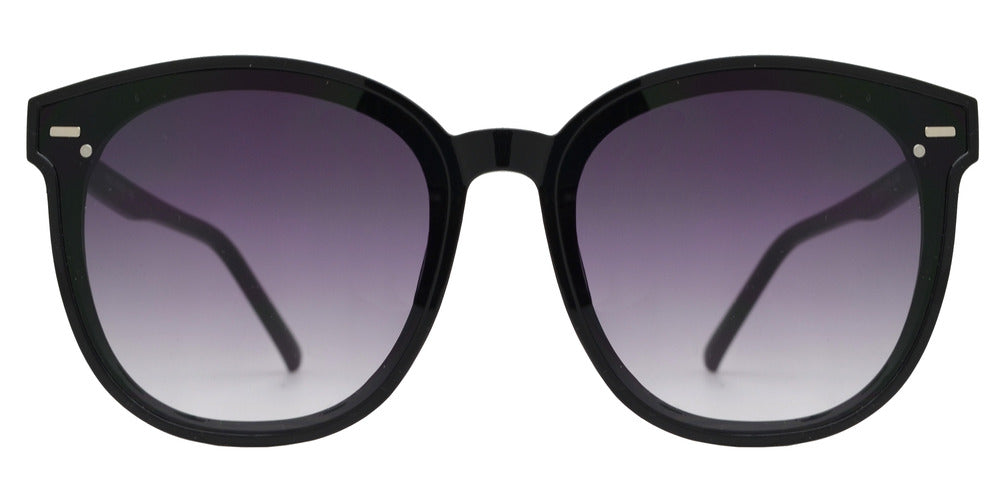 8842 - Round Plastic Sunglasses with Flat Lens