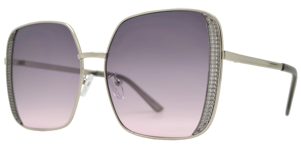 Wholesale - 8843 - Metal Square Sunglasses with Flat Lens - Dynasol Eyewear