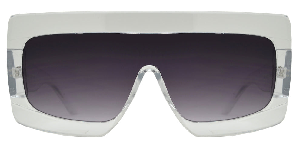 8845 - One Piece Flat Lens Flat Top Sunglasses