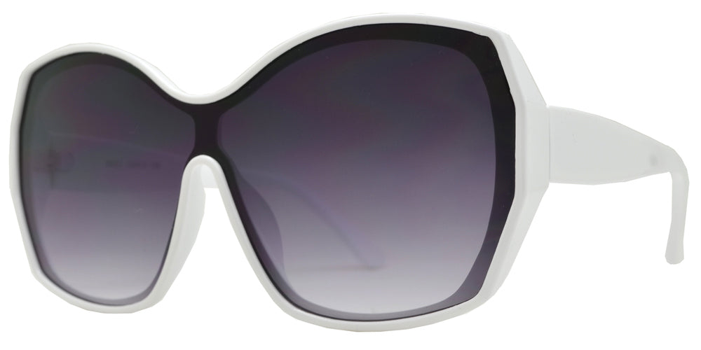 Wholesale - 8852 - One Piece Fashion Sunglasses with Flat Lens - Dynasol Eyewear