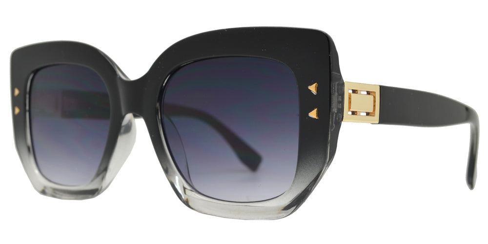 8867 - Plastic Cat Eye Sunglasses with Flat Lens