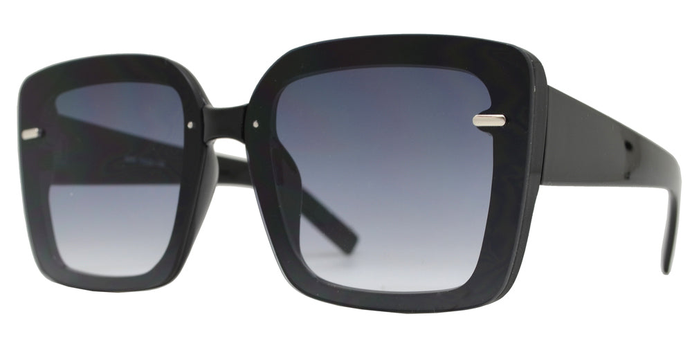 8869 - Plastic Square Rimless Sunglasses