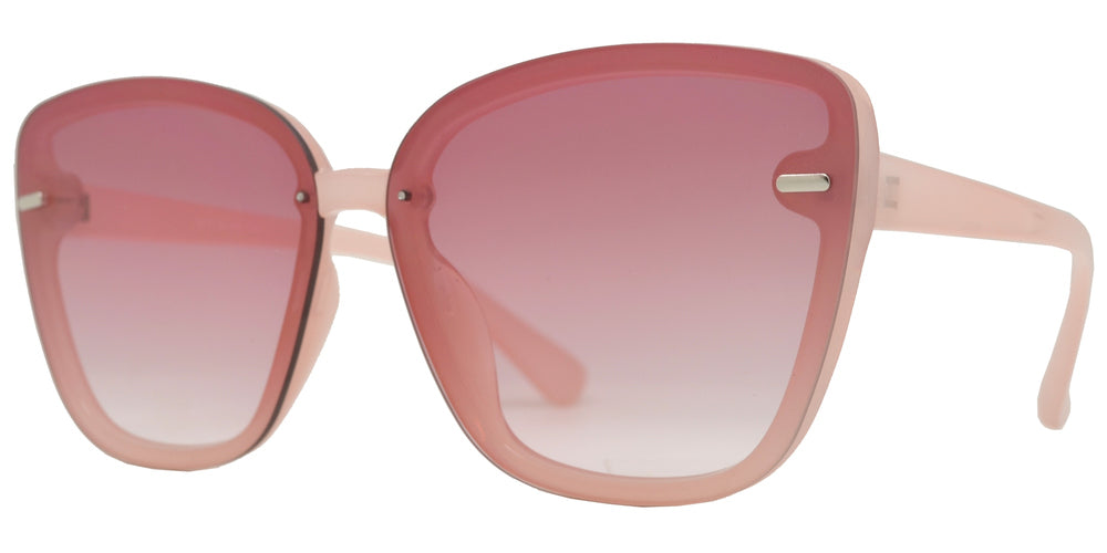 8870 - Rimless Plastic Cat Eye Sunglasses