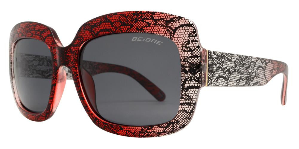 Dynasol Eyewear - Wholesale Sunglasses - PL Allure - Polarized Women Square Thick Frame Plastic Sunglasses - sunglasses
