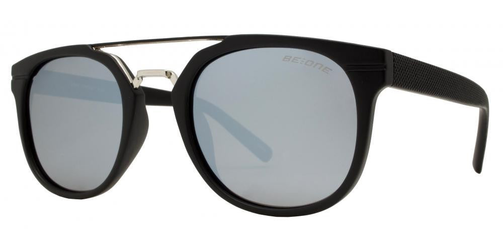 Dynasol Eyewear - Wholesale Sunglasses - PL Hart - Polarized Round Horn Rimmed with Brow Bar Plastic Sunglasses - sunglasses