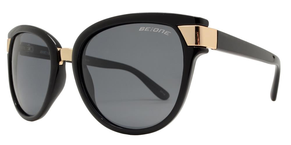 Wholesale - PL Bristol - Polarized Women Cat Eye Metal Detail Plastic Sunglasses - Dynasol Eyewear