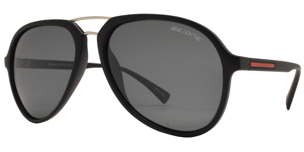 PL Belmont - Polarized Retro Aviator Sunglasses