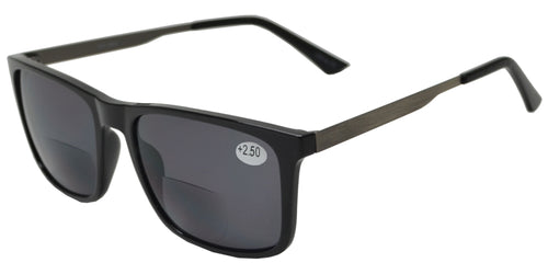 RS 8834 BF - Bifocal Reading Sunglasses For Big Head Large Men TR 90 Frame