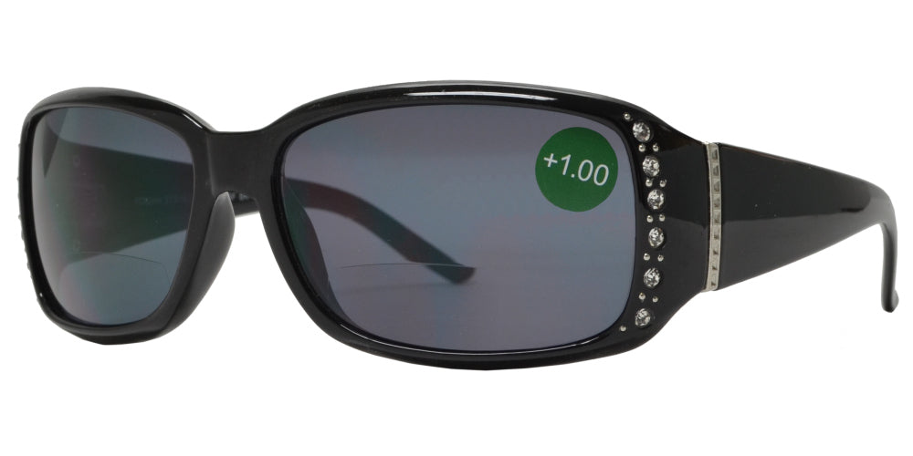 RS 1216 BF - Bifocal Reading Sunglasses Reader with Rhinestone