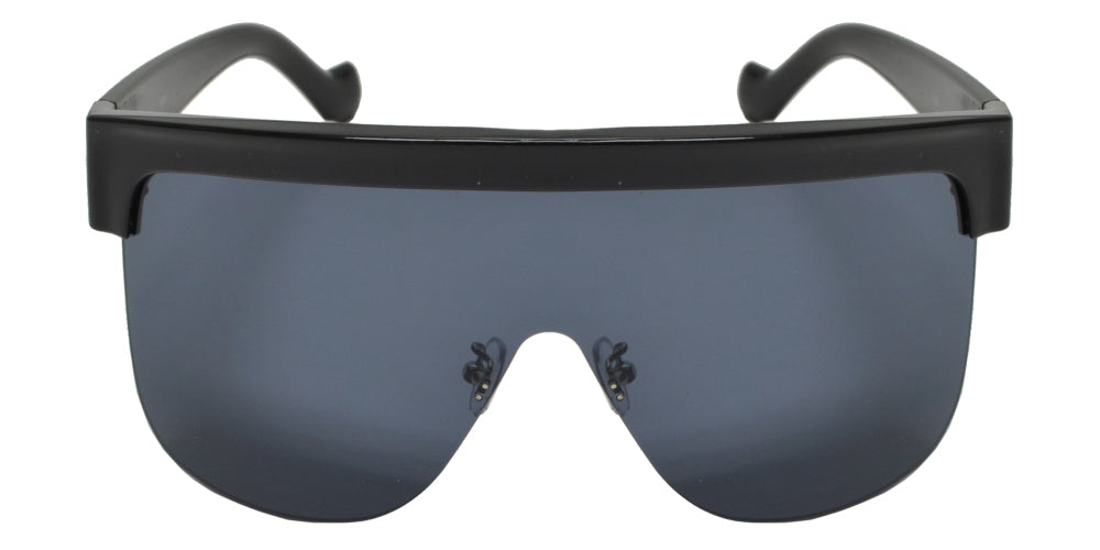 8891 - Flat Top One Piece Shield Lens Sunglasses