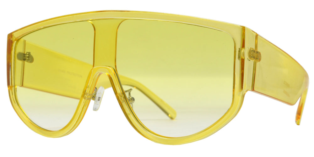 8889 Col - One Piece Flat Lens Sunglasses