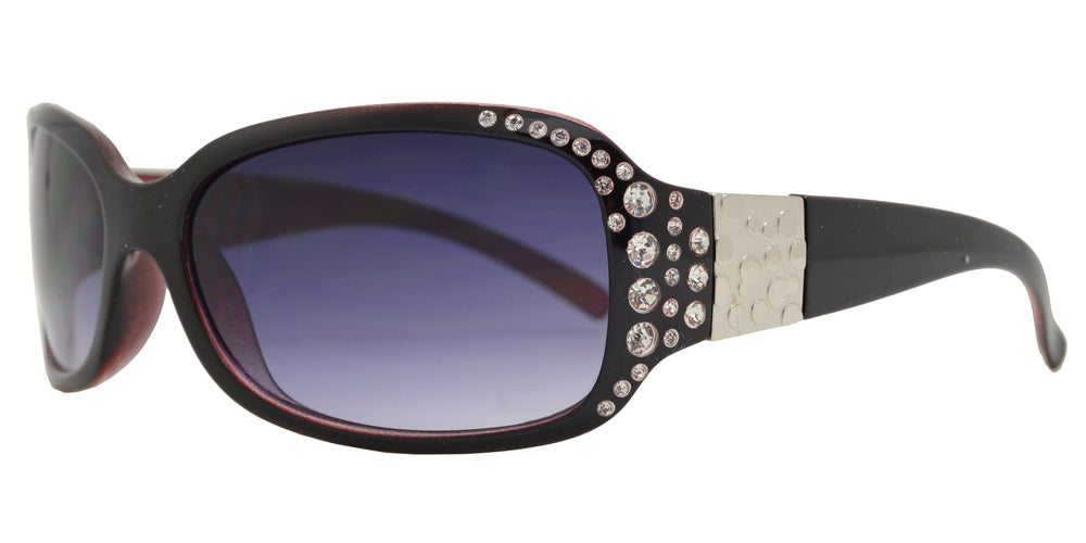 Wholesale - 7372 BX - Small Rectangular Sunglasses with Rhinestones - Dynasol Eyewear